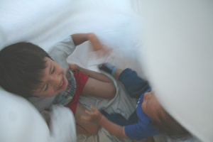 playing with sheets